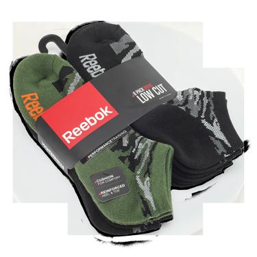 Reebok Camo Socks - 6 pack