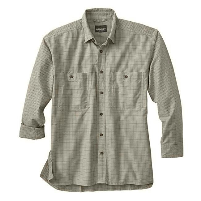 Woolrich Elite CCW Long Sleeve Shirt Loden Plaid