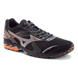 Mizuno Wave Ronin 3 Anthracite / Silver - Red Orange