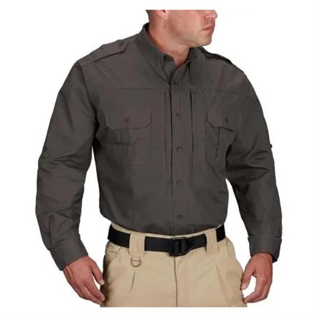 Propper Lightweight Long Sleeve Tactical Dress Shirts Charcoal Gray