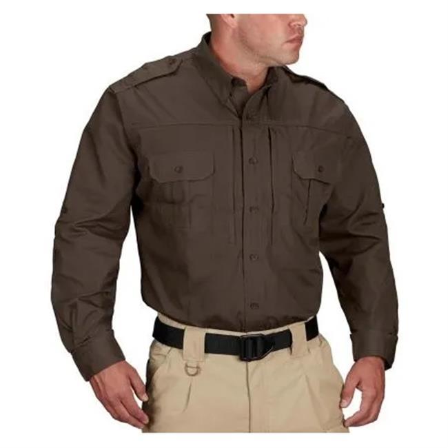 Propper Lightweight Long Sleeve Tactical Dress Shirts Sheriff's Brown