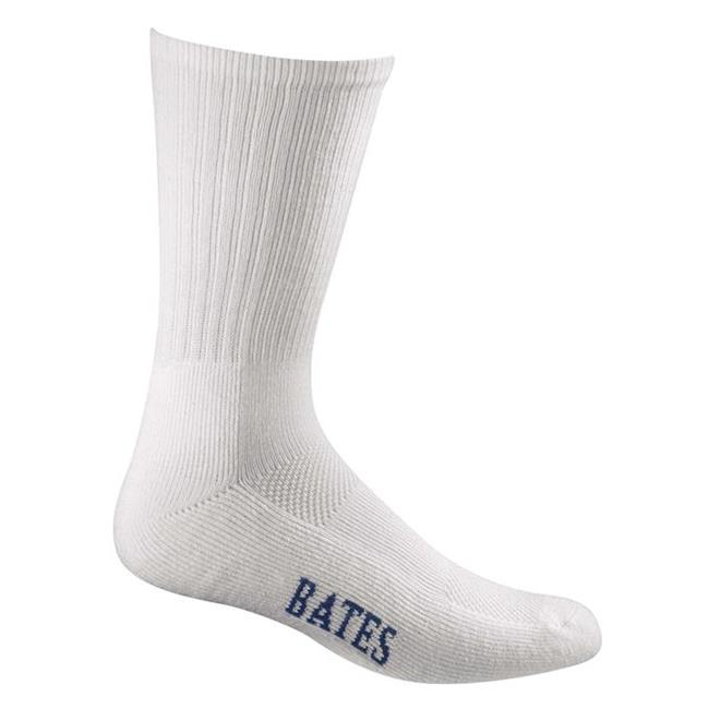 Bates Athletic Performance Socks - 8 Pair White
