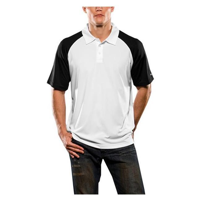 Oakley Short Sleeve Colorblock Polo Black