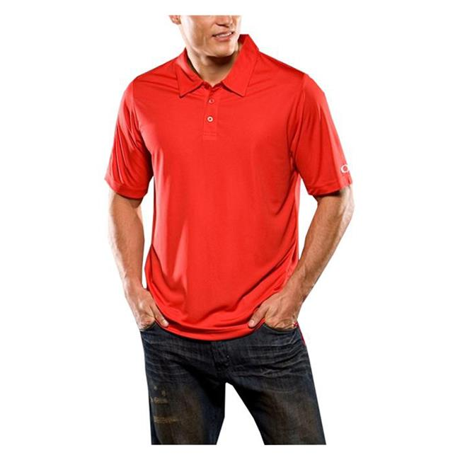 Oakley Short Sleeve Solid Polo Red Line