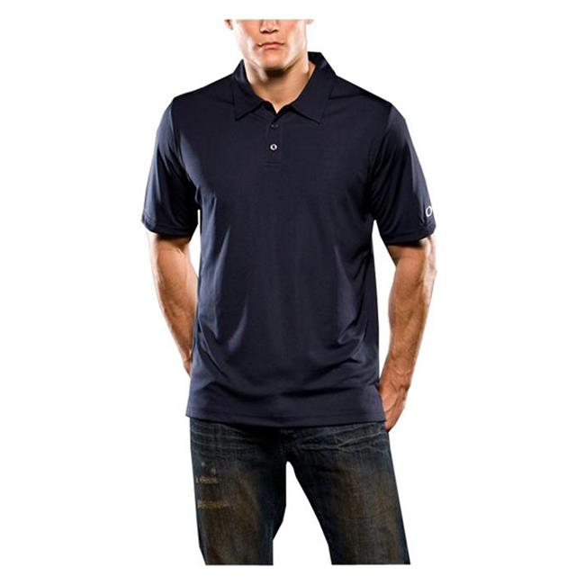 Oakley Short Sleeve Solid Polo Navy Blue