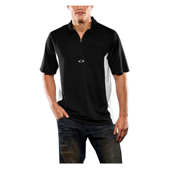 Oakley Short Sleeve Track Polo Black / White