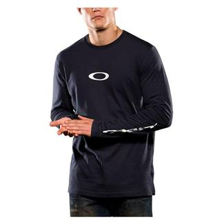 Oakley Long Sleeve Icon Tee Navy Blue