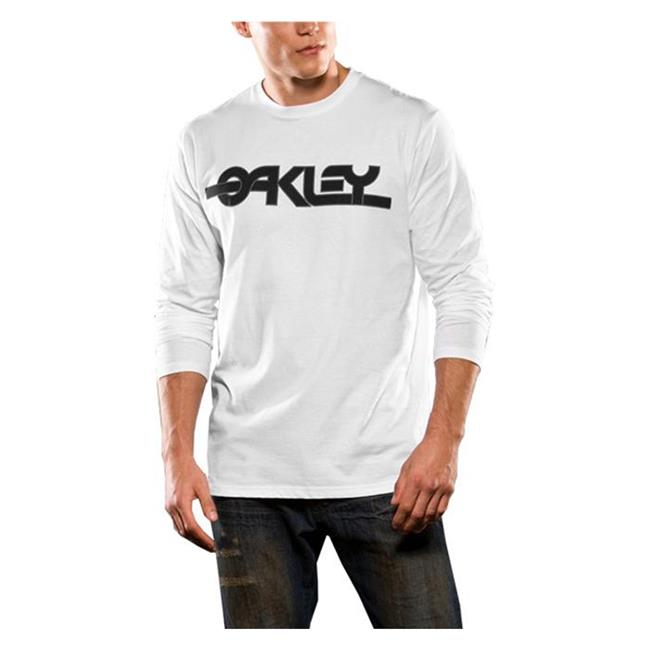 Oakley Long Sleeve Flashback Tee White