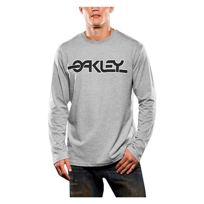 Oakley Long Sleeve Flashback Tee Heather Gray