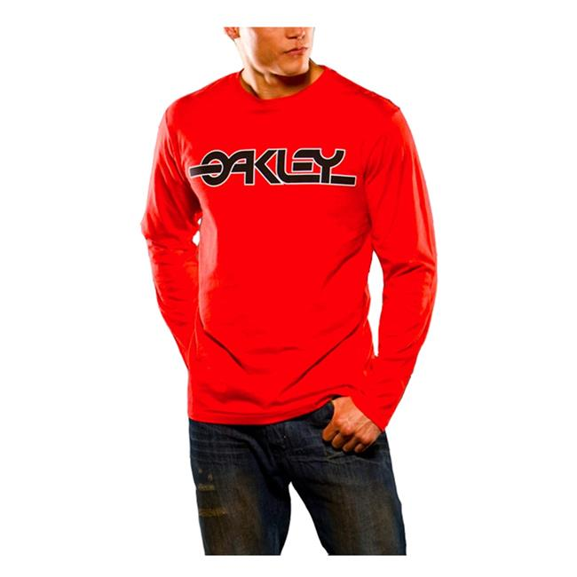 Oakley Long Sleeve Flashback Tee Red Line