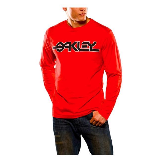 Oakley Long Sleeve Flashback Tee Red Line