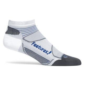 Feetures Elite Ultra Low Cut Socks White / Cobalt