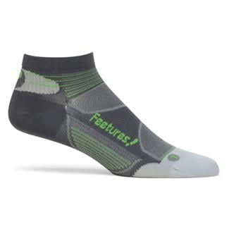 Feetures Elite Ultra Low Cut Socks Carbon / Electric Green