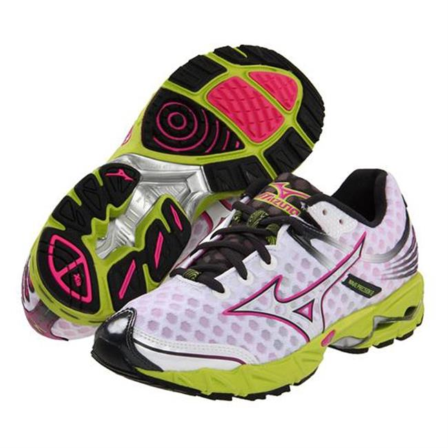 Mizuno Wave Precision 12 White / Electric Pink / Wild Lime