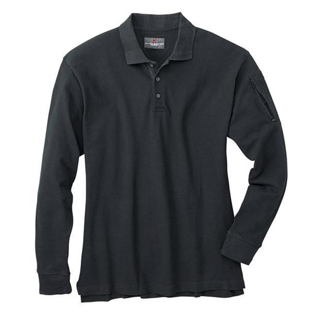 Woolrich Elite Poly / Cotton Long Sleeve Tactical Polo Black