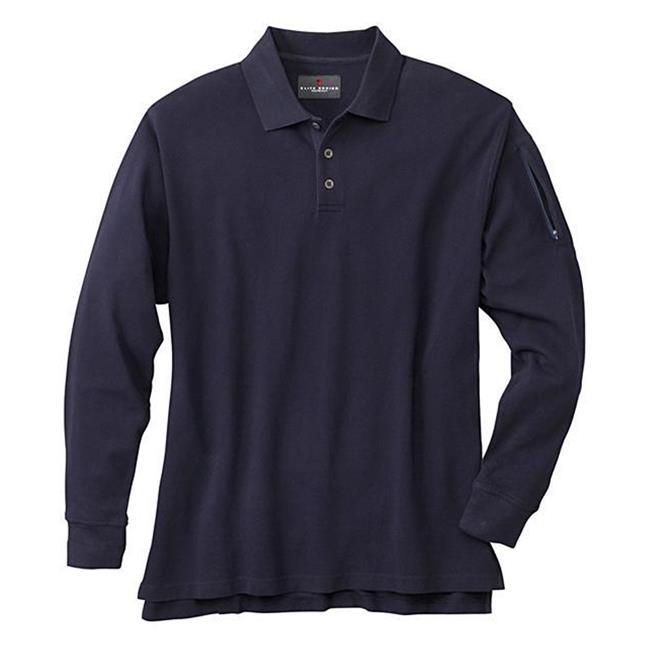 Woolrich Elite Poly / Cotton Long Sleeve Tactical Polo Navy