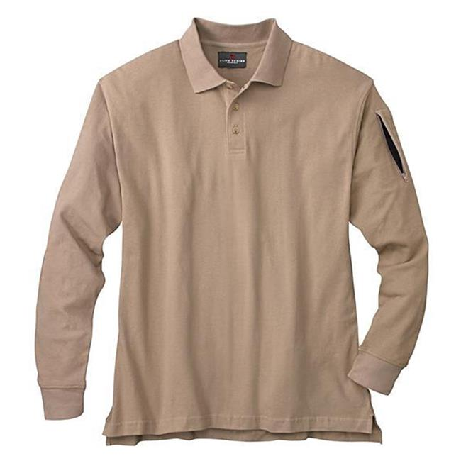 Woolrich Elite Poly / Cotton Long Sleeve Tactical Polo Khaki