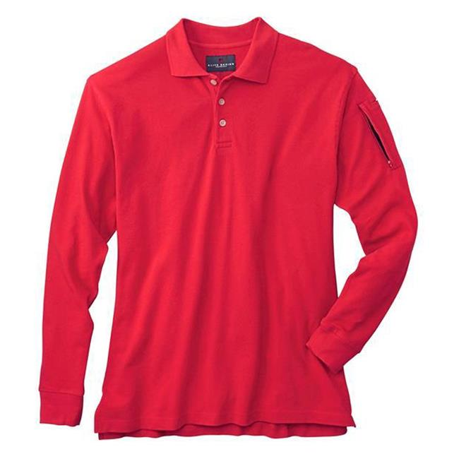 Woolrich Elite Poly / Cotton Long Sleeve Tactical Polo Range Red
