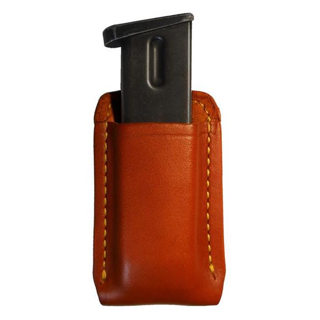 Gould & Goodrich Single Open Top Mag Pouch Chestnut Brown
