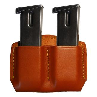 Gould & Goodrich Double Open Top Mag Case Chestnut Brown