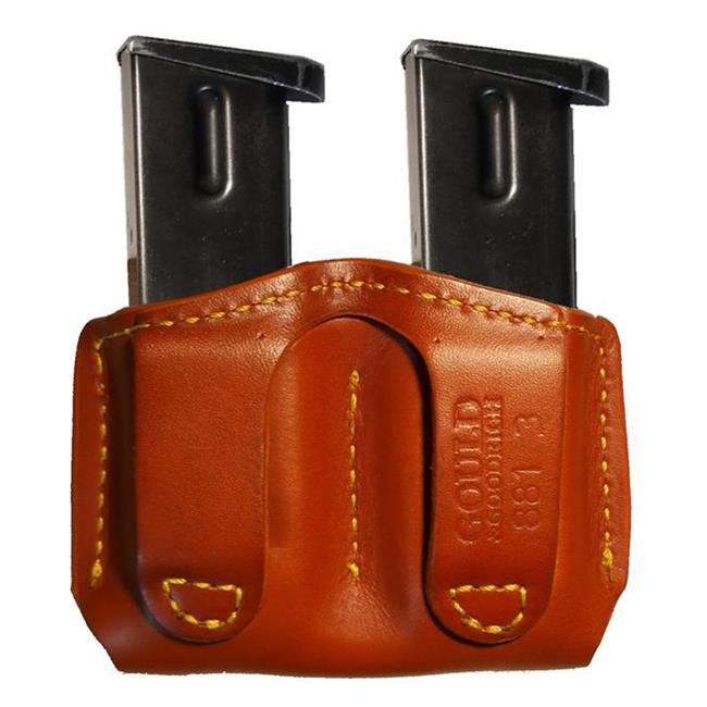 Gould & Goodrich Double Open Top Mag Pouch Chestnut Brown