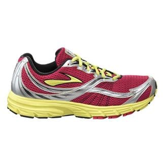 Brooks Launch Persian Red / Sunny Lime / White