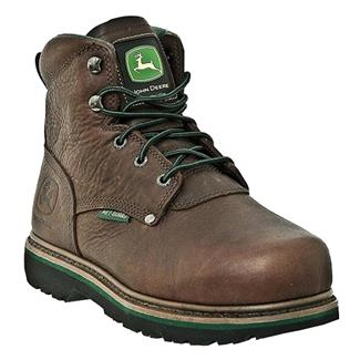 "John Deere 6"" Combine II Lace-Up Met Guard ST Dark Brown"