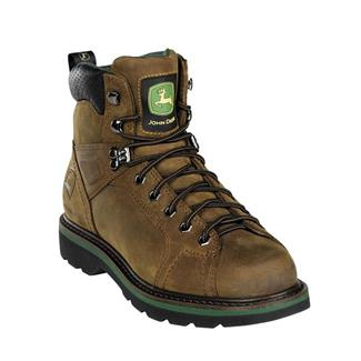 "John Deere 6"" Tractor Lace-To-Toe Brown"