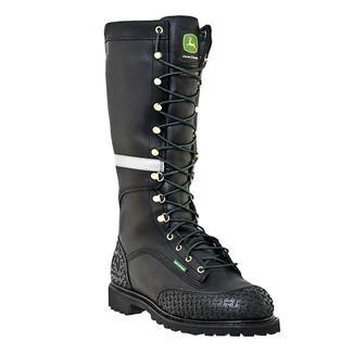 "John Deere 16"" Miner Lace-Up ST 400G WP Black"