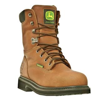 "John Deere 8"" Field Lace-Up ST WP Tan"