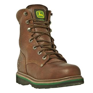"""John Deere 8"""" Combine II Lace-Up Leather ST Brown"""