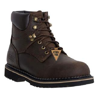 "McRae Industrial 6"" Ruff Rider Lace-Up ST Dark Brown"