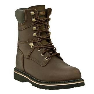 "McRae Industrial 8"" Ruff Rider Lace-Up ST Dark Brown"
