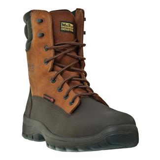 "McRae Industrial 8"" Lace Up Leather CT Chocolate"