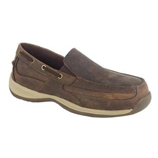 Rockport Works Sailing Club Slip On Boat Shoe ST Brown