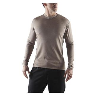 Massif Long Sleeve HotJohns Crew Shirt Coyote Tan