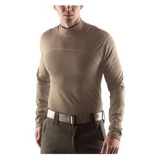 Massif Breeze LS Mock Neck Tan