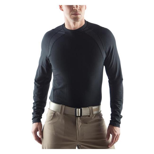 Massif Helium LS Crew Shirts Black