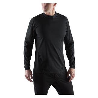 Massif Cool Knit LS Crew Shirts Black