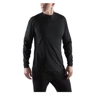 Massif Cool Knit LS Crew Shirts Black
