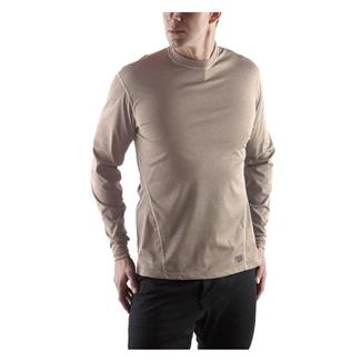 Massif Cool Knit LS Crew Shirts Coyote Tan