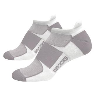 Brooks Essential Low Cut Tab Socks (2 pack) White