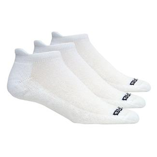 Brooks Versatile Low Cut Tab Socks (3 pack) White with Black Accents