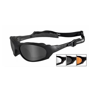 Wiley X XL-1 Advanced Smoke Gray / Clear / Light Rust 3 Lenses Matte Black