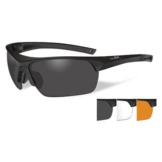 Wiley X Guard Smoke Gray / Clear / Light Rust 3 Lenses Matte Black