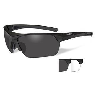 Wiley X Guard Smoke Gray / Clear Matte Black 2 Lenses