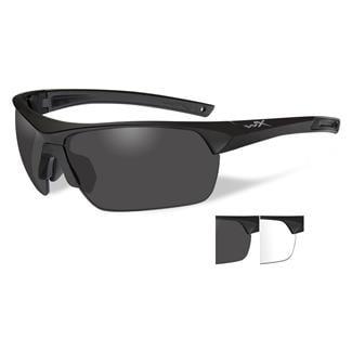 Wiley X Guard Smoke Gray / Clear 2 Lenses Matte Black