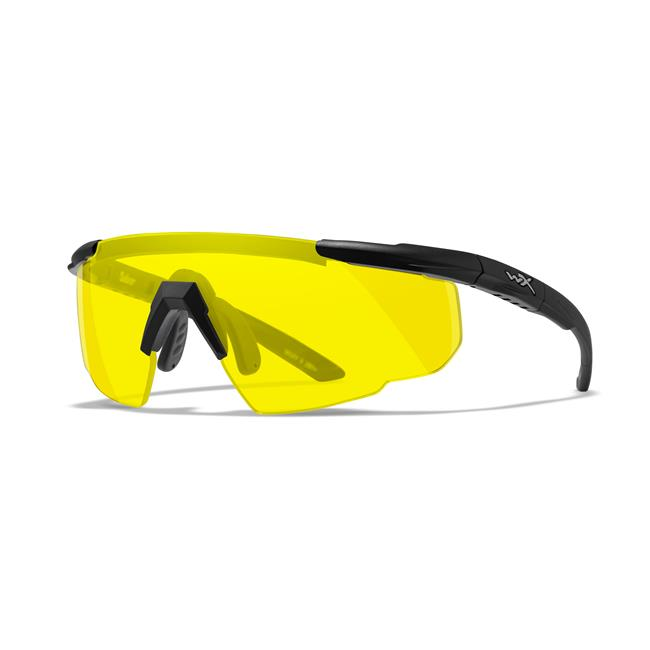Wiley X Saber Advanced 1 Lens Matte Black Pale Yellow
