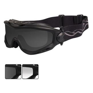 Wiley X Spear Smoke Gray / Clear 2 Lenses Matte Black