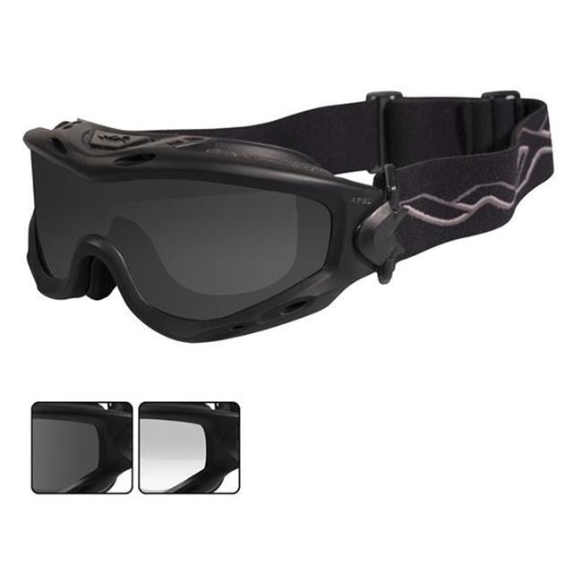 Wiley X Spear Matte Black Smoke Gray / Clear 2 Lenses
